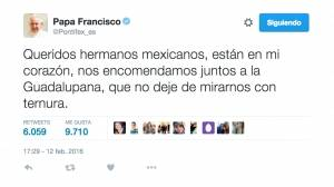 Papa Francisco saluda a mexicanos