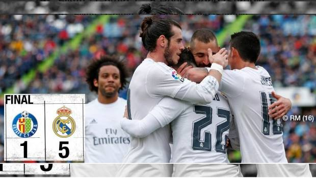 Résumé Vidéo Getafe Real Madrid 1 5 16 04 2016: VIDEO: Golazo De James En Victoria Del Real Madrid 5-1 En