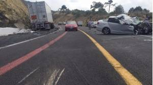 Accidente vial en Puebla