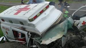 Accidente de Cruz Roja en Uruapan.