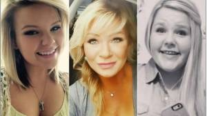 Christy Sheats  y sus dos hijas.