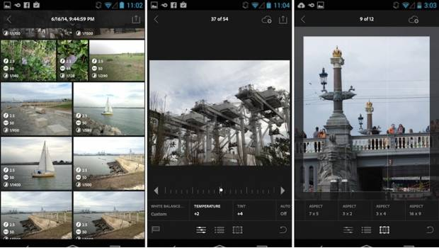 Lightroom para Android.