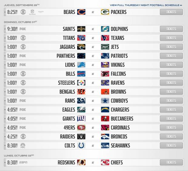 Nfl Calendario.Nfl Da A Conocer Calendario De Juegos De Temporada Regular