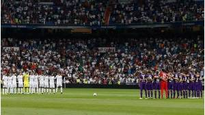 Real Madrid guarda minuto de silencio.