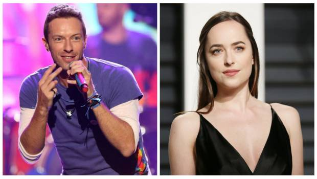 Captan juntos a Dakota Johnson y Chris Martin