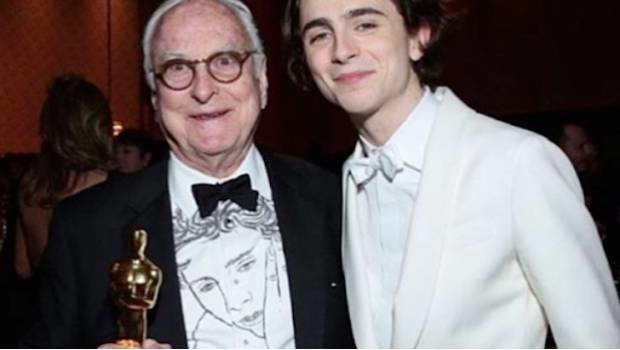 James Ivory y Timothée Chalamet