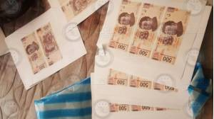 Billetes falsos encontrado en Iztapalapa