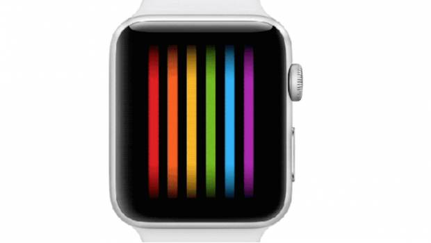Carátula al mes del Orgullo LGBT en el Apple Watch.