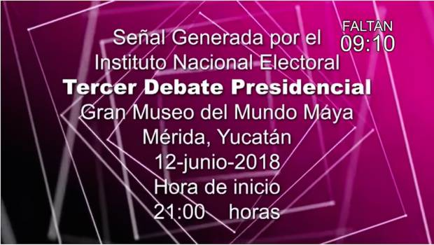 Tercer debate presidencial en YouTube