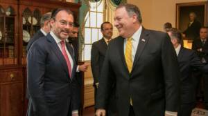 Luis Videgaray y Mike Pompeo