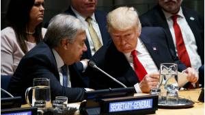 Secretario general de la ONU, Antonio Guterres y Donald Trump