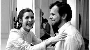 Gary Kurtz y Carrie Fisher